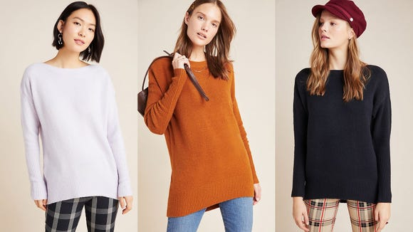 Tuck it, tie it, wear it loose—this sweater means you can do it all.