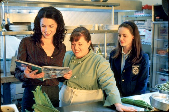 "Lauren Graham, Melissa McCarthy and Alexis Bledel in a scene from ""Gilmore Girls."""