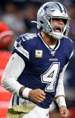 Dak Prescott had career-highs in passing yardage (4,902) and touchdown passes (30) in 2019.