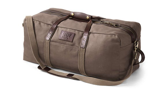 This vintage looking duffle is the perfect size for a weekend trip.
