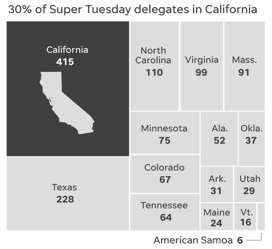 Super Tuesday state delegates