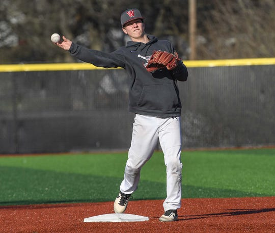 Westside High School baseball senior Cade Langston plays shortstop.