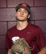 Westside High School baseball senior Tristan Elgin plays catcher and pitches.