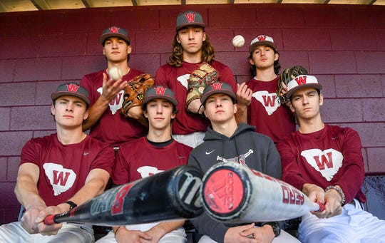 Westside High School baseball seniors, clockwise from top left; Tristan Elgin, Aden Sanders, Jaden Cribb, Connor McGill, Cade Langston, Garrett Patterson, and Nate Bailey want to lead the Rams and make a run deeper in the playoffs.