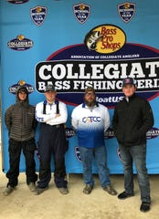 The Central Louisiana Technical Community College (CLTCC) Fishing Team recently competed in its first Bass Pro Shops Collegiate Fishing Series event at Lake Sam Rayburn in Jasper, Texas. Inaugural team members include (from left) team captain Matthew Guillory, Ethan Price, coach Brad Moyers and Nathan Orlando.