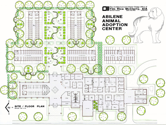 A floor plan of the proposed new animal shelter by Tim Rice McClarty.