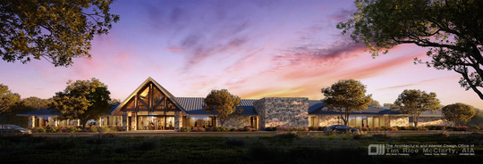 A rendering of the proposed new animal shelter by Tim Rice McClarty.