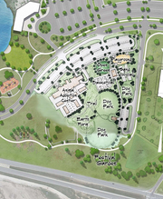 Map showing the location of a new $9 million proposed animal shelter facility in Nelson Park.