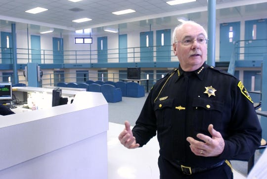 Broome County Sheriff David Harder in the county jail in February 2018.