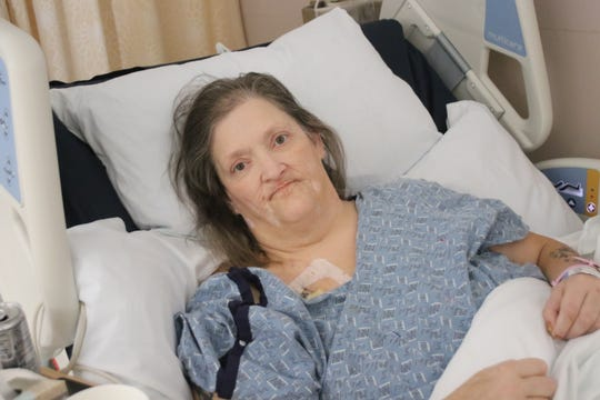 Tazha Zeira, 53, resting at a Seattle hospital on Wednesday. Zeira has several health issues complicated by years of living on the streets. She says Harrison Medical Center unsafely discharged her without plans for her recovery, allegations that prompted a state health investigation into the Bremerton hospital last year.