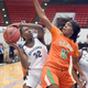 Florida Prep's Paige McDonald battles against a Tallahassee FAMU defender during the Class 2A state final Friday, Feb. 28, 2020, in Lakeland.