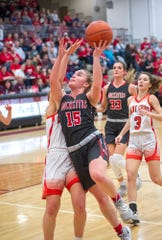 Taylor Ratliff's aggressive play in the paint helped her get to the free throw line 64 more times this year.