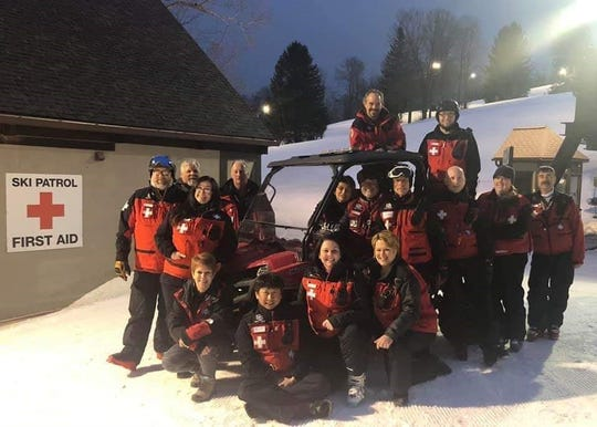 Ski Patrol members at Snow Trails guard the slopes each day the resort is open. More than 100 volunteer patrol members answer questions, keep an eye on visitors, and respond to emergencies.
