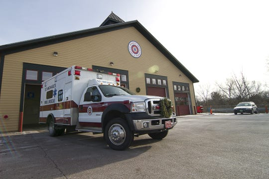 St. Michael's rescue truck pulls out of the station and heads out on a service run in 2012.