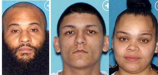 Authorities allege Wilbert Segarra, left, Luis Rosado and Meligza Cruz had top roles in a drug ring based on the 400 block of Grant Street in North Camden.