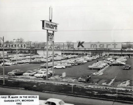The first Kmart store in Garden City, Michigan, in 1962.