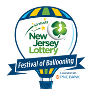 The new logo for the recently-announced New Jersey Lottery Festival of Ballooning.