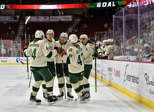 The Wild are currently behind Milwaukee in the AHL standings.