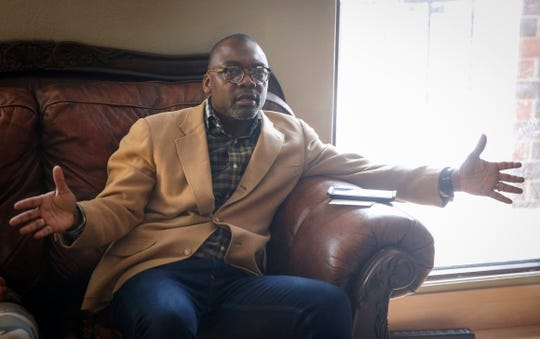 Kenneth Cameron, the therapist of a Des Moines student, speaks out about a sexual abuse case leveled against a teacher during an interview on Friday, Feb. 28, 2020.