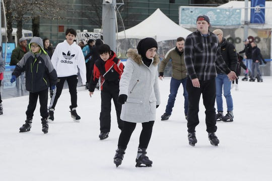 The Frankenmuth Rink at Campus Martius is preparing to close for the season.