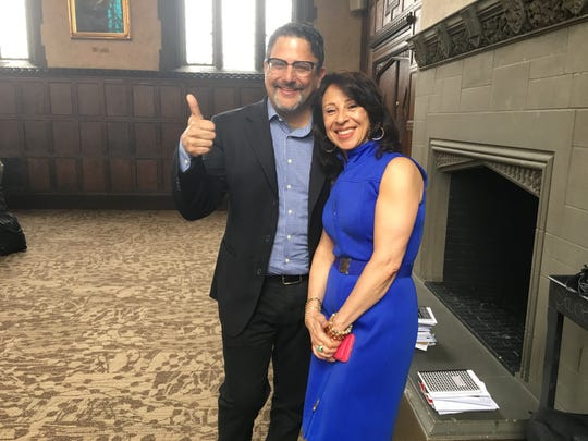 """Julio Ricardo Varela and Maria Hinojosa, co-hosts of """"In The Thick."""""""