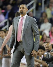 Michigan coach Juwan Howard during the 81-74 loss to Wisconsin on Thursday, Feb. 27, 2020 at the Crisler Center in Ann Arbor.