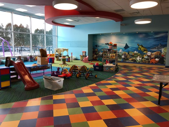 A tot room for programs offered for children ages 18 months to 5 years old in the new $24-million Sterling Heights Community Center, which is paid for with funds from a 20-year parks and recreation millage approved by voters in 2016. The room is on the first floor of the 98,000-square-foot center at 40250 Dodge Park Rd.