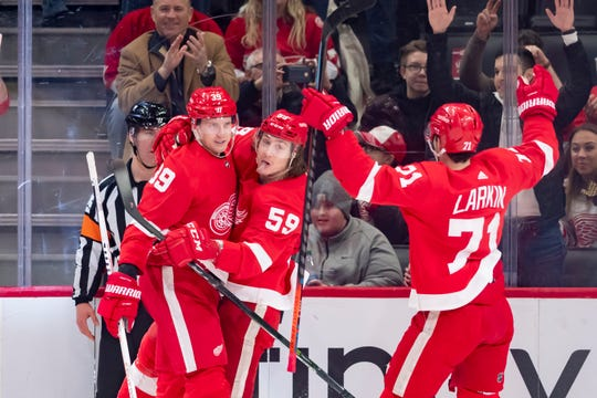 Anthony Mantha, Tyler Bertuzzi and Dylan Larkin give the Red Wings a solid foundation of forwards.