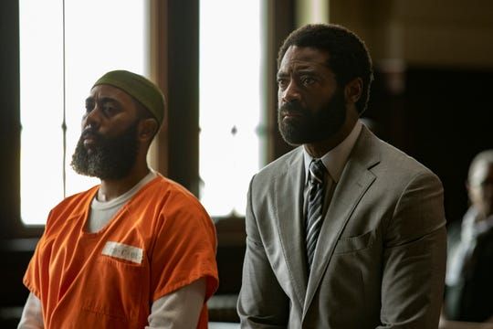 """Felonious Munk, left, and Nicholas Pinnock in a scene from """"For Life,"""" airing Tuesdays at 10 p.m. EST on ABC."""