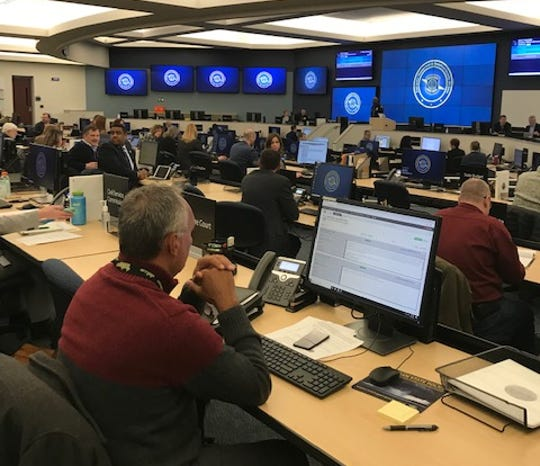 Emergency managers from every state department met at the State Emergency Operations Center in Dimondale Friday for briefings on preparedness for coronavirus.