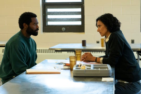 """Nicholas Pinnock, left, and Indira Varma in a scene from """"For Life."""""""