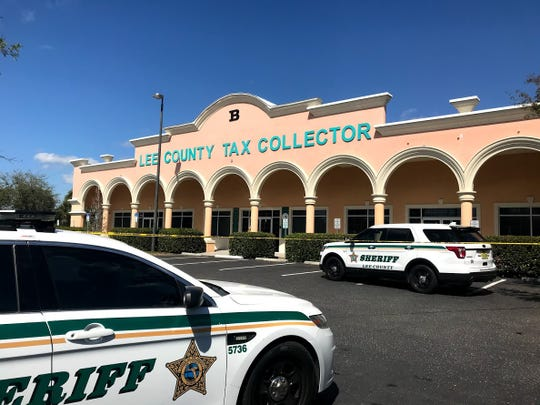 Lee County Sheriff's Office conducting an active investigation at the Lehigh Acres branch of the Lee County Tax Collector's Office on Friday, Feb. 28, 2020.