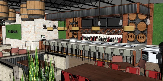 Rendering of Two Meatballs in the Kitchen restaurant to open in Cape Coral.