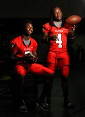 South Fort Myers High School wide receiver Sammy Watkins and quarterback Dallas Crawford pose for a portrait on Aug. 20, 2010.