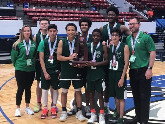The Fort Myers Unified basketball team took third place as they defeated Harmony 54-30 at the FHSAA State Championships Friday morning in Lakeland.