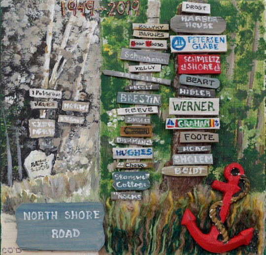 This piece by Carolyn Glabe O'Donnell is one of several which appeared in a past Community Mosaic Project in Ephraim.