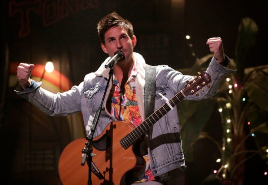 For his acoustic show at the Meyer Theatre on Thursday, Jake Owen also came out onstage to introduce his opening acts, Scotty Emerick and Larry Fleet. The three of them shared the stage later in the night.