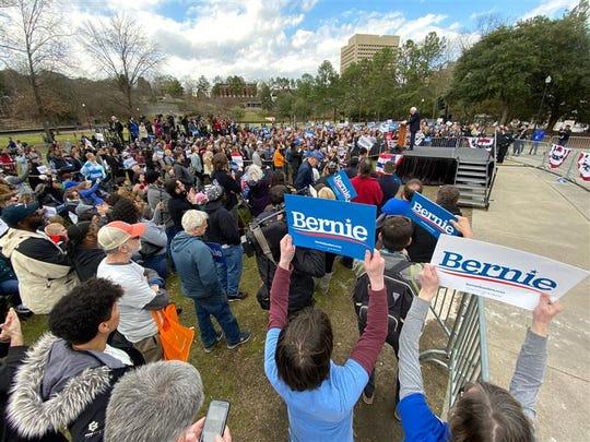 Bernie Sanders held a rally in Columbia, SC, Friday, Feb. 28, 2020.