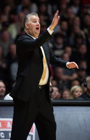 Feb 27, 2020; West Lafayette, Indiana, USA;  Purdue Boilermaker head coach Matt Painter reacts  during their game against the Indiana Hoosiers  at Mackey Arena. Mandatory Credit: Thomas J. Russo-USA TODAY Sports