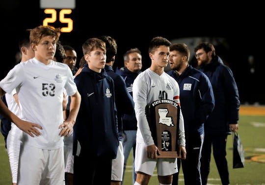 The St. Thomas More boys soccer team takes on Holy Cross in the LHSAA Division II state championship Thursday, Feb. 27, 2020.
