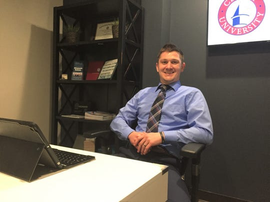 Chiropractor Adam Leibinger, shown Friday, Feb. 20, 2020, is heading up Duncan Chiropractic Group's new clinic inside Cleary University's athletics and wellness facility.