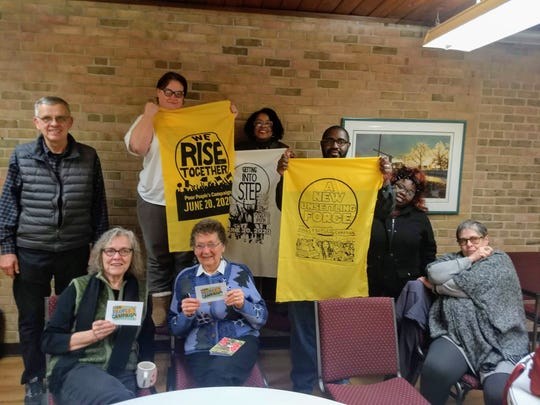 LaShawn Erby and members of the Metro Lansing Poor People's Campaign on Feb. 20, 2020.