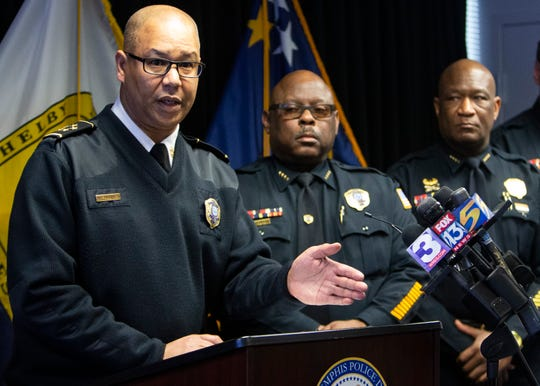 Memphis Police Department Director Michael Rallings addresses the media about Tennessee Gov. Bill Lee's proposed legislation on Thursday, February 27, 2020.