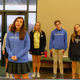 Morgen Story, front, sings with the Briarcrest Christian School's OneVoice a cappella group.  In the back are, from left: David Clark, Nicole Bartley, Lauren Green, West Sepko, Emma Grace Kelly and Kallen Miller.