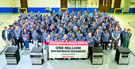 On Feb. 25, 2020, Sharp Manufacturing Company of America celebrated the production of their one millionth microwave drawer.