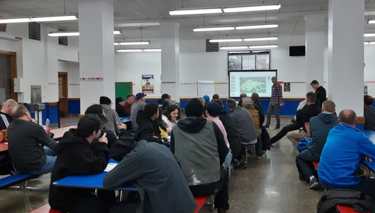 About 50 community members gathered at a design workshop Feb. 19 at Pulaski High School in Milwaukee to offer input on the design features they'd like to see incorporated in the new version of The Turf skatepark being built in Greenfield.