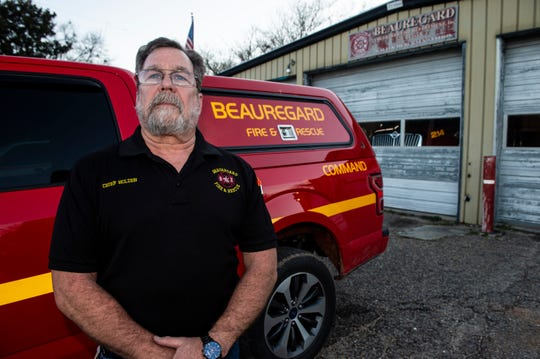 Beauregard Volunteer Fire Chief Mike Holden poses for a portrait outside his station in Beauregard, Ala., on Wednesday, Feb. 26, 2020. On March 3, 2019 an EF-4 tornado killed 23 people in Beauregard.