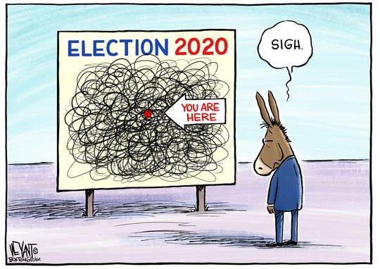 Democrats' path jumbled.