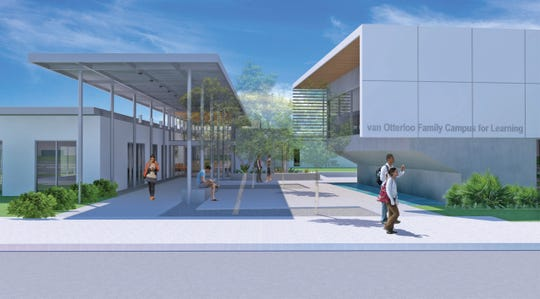 Rendering of the future van Otterloo Family Campus for Learning in Immokalee, part of the Guadalupe Center