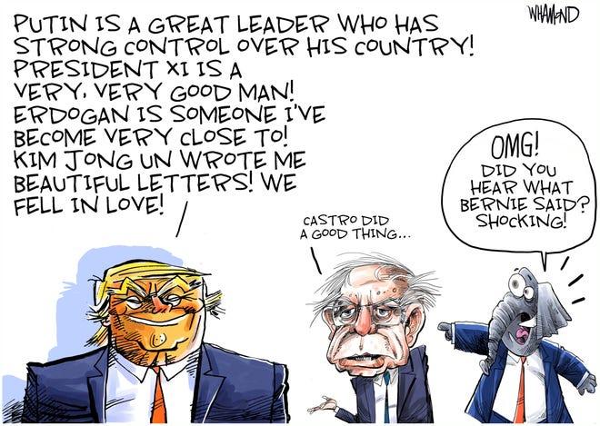 Trump and Sanders on dictators.